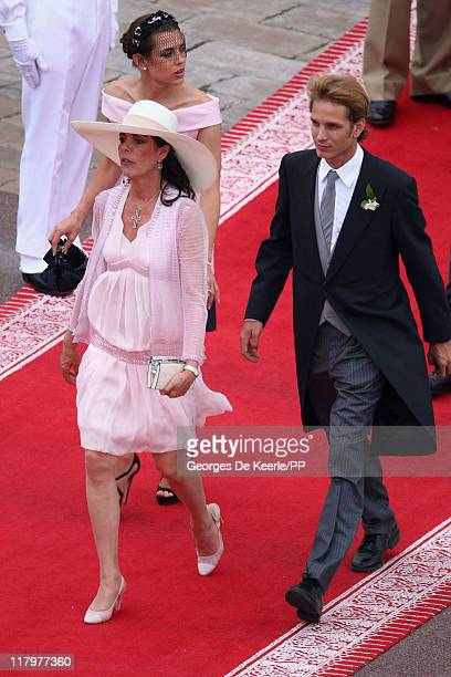Charlotte Casiraghi Princess Caroline of Hanover and Andrea Casiraghi attend the religious ceremony of the Royal Wedding of Prince Albert II of...
