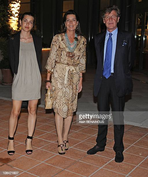 Charlotte Casiraghi Princess Caroline of Hanover and Prince Ernst August of Hanover at the gala of the International Jumping of Monaco in Monte Carlo...