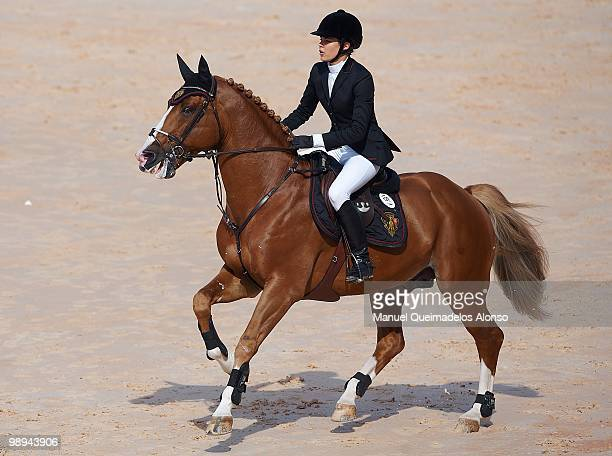 Charlotte Casiraghi rides Ad Troy during day three of the Global Champions Tour 2010 at Ciudad de Las Artes y Las Ciencias on May 9 2010 in Valencia...