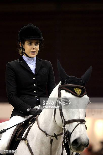 Charlotte Casiraghi rides and competes during the International Gucci Masters Competition at Paris Nord Villepinte on December 3 2010 in Paris France