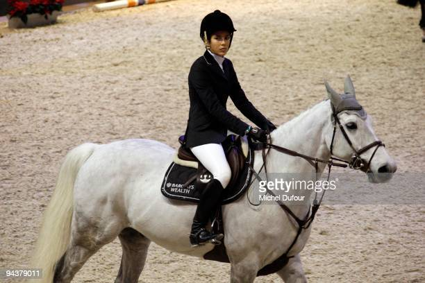 Charlotte Casiraghi rides and competes during the International Gucci Masters Competition Day 3 at Paris Nord Villepinte on December 12 2009 in Paris...