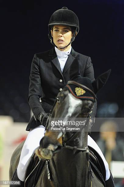Charlotte Casiraghi rides Costa Virgio during the Masters Grand Slam race at the Gucci Paris Masters 2012 at Paris Nord Villepinte on November 29...