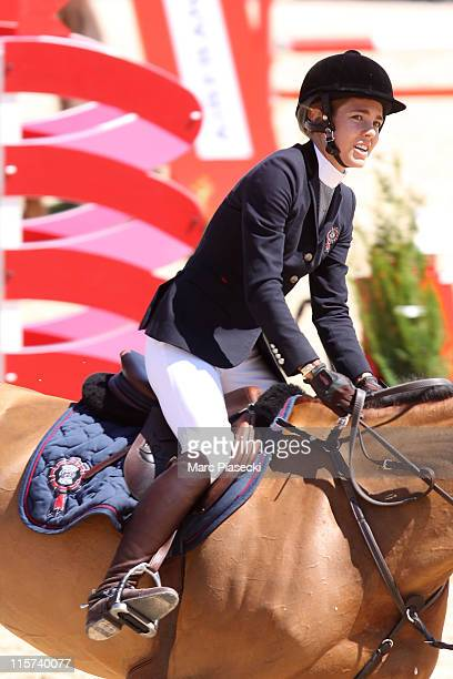 Charlotte Casiraghi rides during the '30th International Cannes Jumping' Global Champion Tour 2011 on June 9 2011 in Cannes France