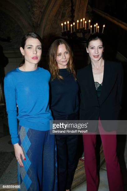 Charlotte Casiraghi Stylist Stella McCartney and MarieAgnes Gillot pose after the Stella McCartney show as part of the Paris Fashion Week Womenswear...