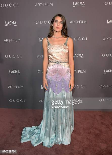 Charlotte Casiraghi wearing Gucci attends the 2017 LACMA Art Film Gala Honoring Mark Bradford and George Lucas presented by Gucci at LACMA on...