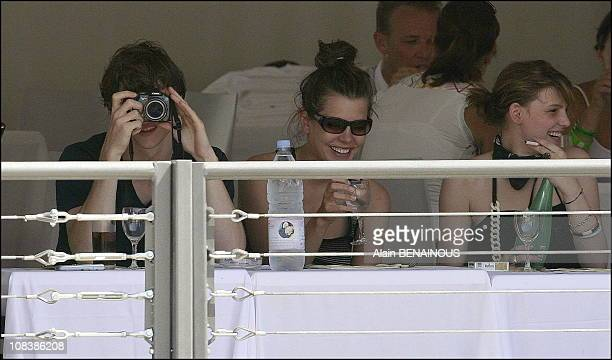 Charlotte Casiraghi with her boyfriend Felix in Monaco on June 23 2006