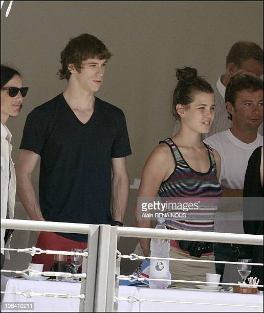 Charlotte Casiraghi with her boyfriend in Monaco on June 23 2006