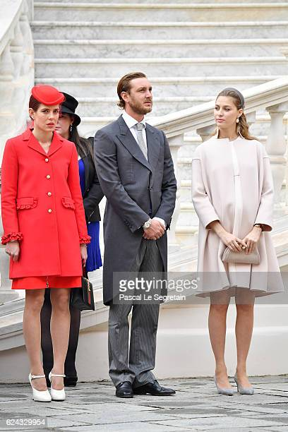 Charlotte CasiraghiPierre Casiraghi and Beatrice Borromeo attend the Monaco National Day Celebrations in the Monaco Palace Courtyard on November 19...