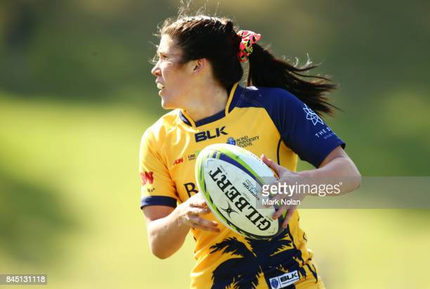 Charlotte Caslick of Bond Uni in action during the Gold Medal match between the Uni of Queensland and the Bond University at the Womens Sevens...