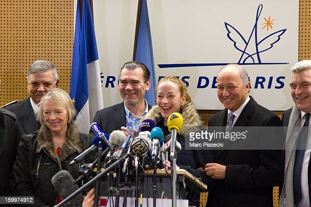 Charlotte Cassez Franck Berton Florence Cassez French Foreign Minister Laurent Fabius and MarcPhilippe Daubresse attend a Press conference at...