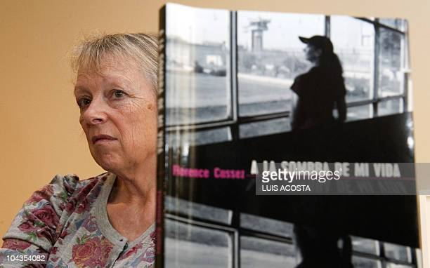 Charlotte Cassez mother of Florence Cassez who has been in prison in Mexico for five years for kidnapping sits nehind the book of her daugther A la...