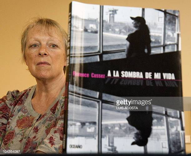 Charlotte Cassez mother of Florence Cassez who has been in prison in Mexico for five years for kidnapping looks at the book of her daugther A la...