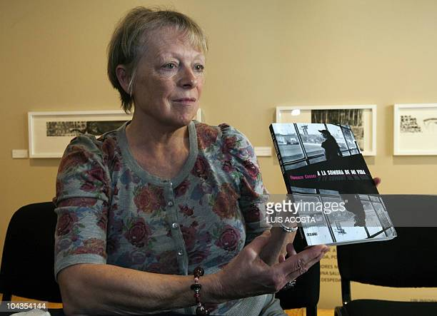 Charlotte Cassez mother of Florence Cassez who has been in prison in Mexico for five years for kidnapping holds her daugther's book A la sombra de mi...