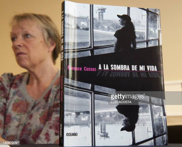 Charlotte Cassez mother of Florence Cassez who has been in prison in Mexico for five years for kidnapping is seen next to her daugther's book A la...