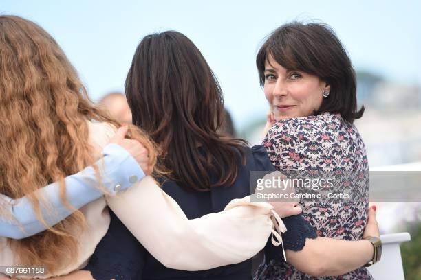 Charlotte Cetaire director Annarita Zambrano and Marilyne Canto attends the Dopo La Guerra Apres La Guerre photocall during the 70th annual Cannes...
