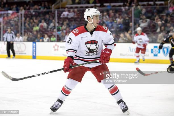 Charlotte Checkers C Andrew Poturalski during the third period of the AHL hockey game between the Charlotte Checkers and Cleveland Monsters on March...