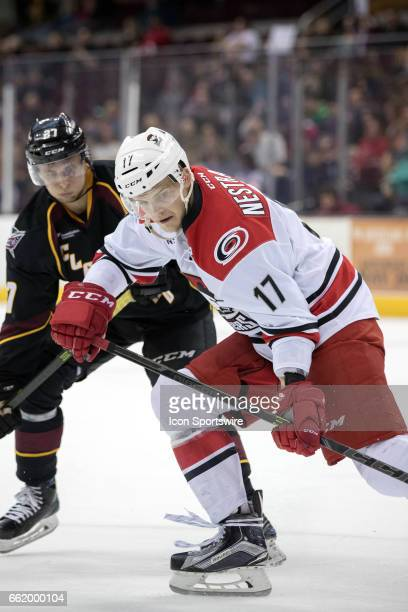 Charlotte Checkers F Andrej Nestrasil during the second period of the AHL hockey game between the Charlotte Checkers and Cleveland Monsters on March...