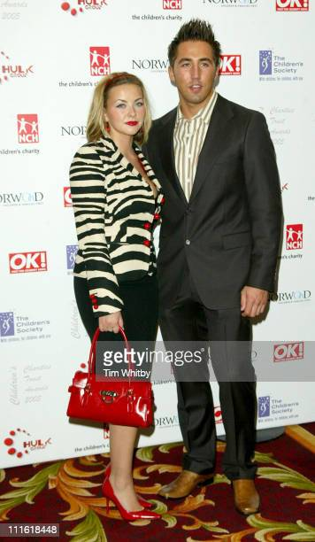 Charlotte Church and Gavin Henson during 2005 Children's Charities Trust Awards at Grosvenor House Hotel in London Great Britain