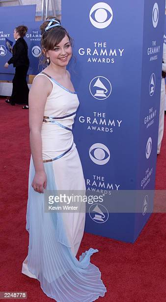 Charlotte Church arrives at the 43rd Annual Grammy Awards at Staples Center in Los Angeles CA on February 21 2001 Photo credit Kevin Winter/Getty...