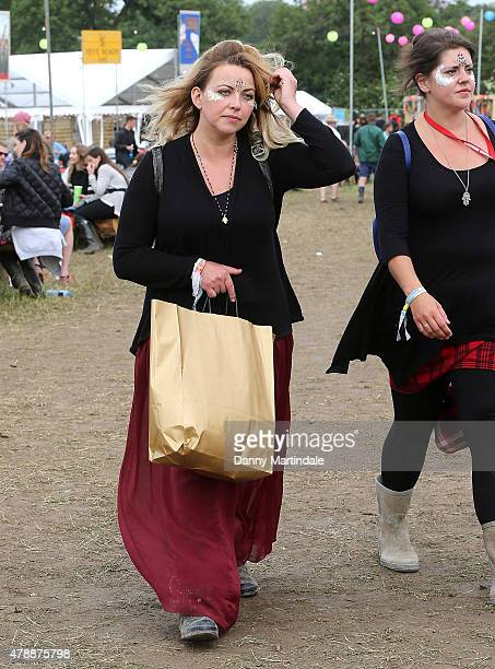Charlotte Church at the Glastonbury Festival at Worthy Farm Pilton on June 28 2015 in Glastonbury England