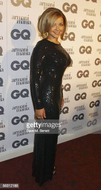Charlotte Church attends the GQ Men Of The Year Awards at the Royal Opera House on September 6 2005 in London England The mens magazine's annual...