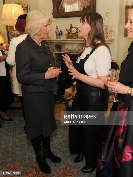 Charlotte Church chats with Camilla Duchess of Cornwall President of WOW Women of the World hosts a reception for the organisation at Clarence House...