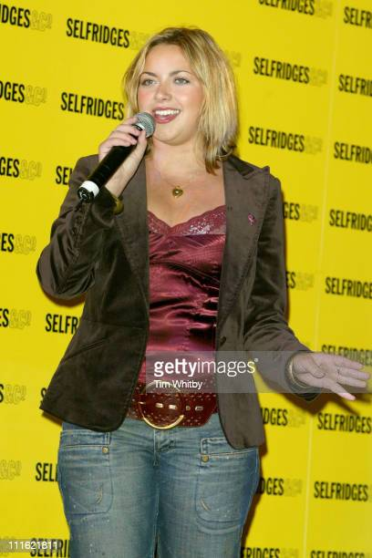 Charlotte Church during Dress to Impress Oxford Street Celebration October 1 2005 at Selfridges Oxford Street in London Great Britain