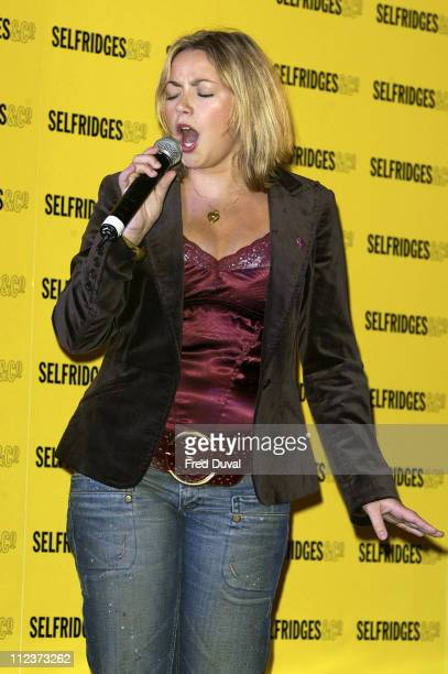 Charlotte Church during Dress to Impress Oxford Street Celebration October 1 2005 at Oxford Street in London Great Britain