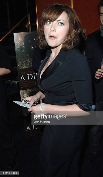 """Charlotte Church during George Michael's """"A Different Story"""" Gala London Screening - Inside at Curzon Mayfair in London, Great Britain."""