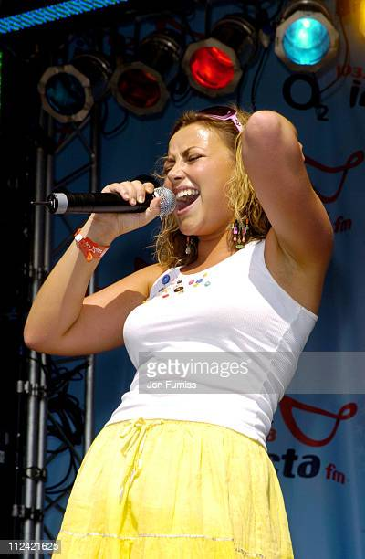 Charlotte Church during Invicta FM's Party In The Park Show at The Hop Farm in Kent Great Britain