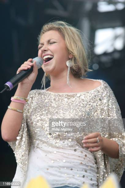 Charlotte Church during O2 in the Park 2005 at Phoenix Park in Dublin Ireland