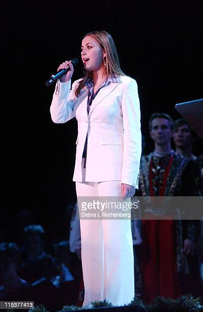 Charlotte Church during Royal Christmas Show at Nassau Coliseum in Long Island NY United States