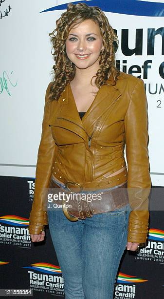 Charlotte Church during Tsunami Relief Concert Cardiff Backstage at Millennium Stadium in Cardiff Great Britain