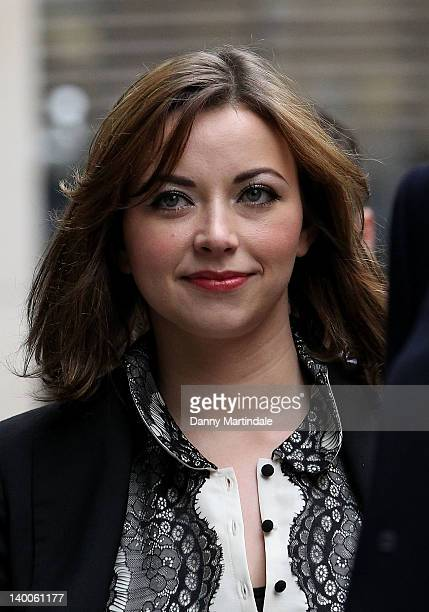 Charlotte Church is seen attending the High Court to settle her phonehacking damages claim on February 27 2012 in London England