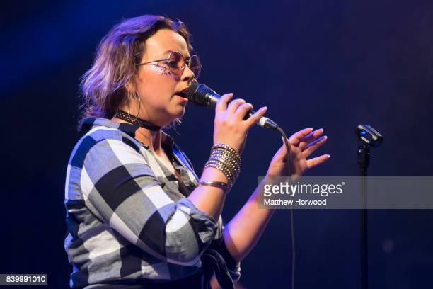 Charlotte Church performs on stage at a Charlotte Church's Late Night Pop Dungeon performance at Pride Cymru's Big Weekend on August 27 2017 in...