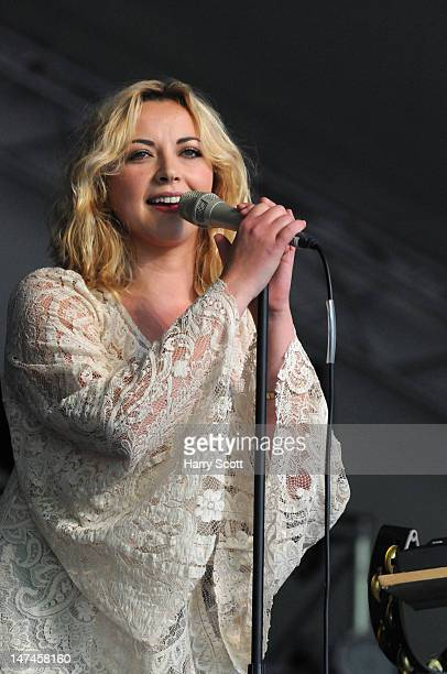 Charlotte Church performs on stage during Cornbury Festival at Great Tew Estate on June 29 2012 in Oxford United Kingdom