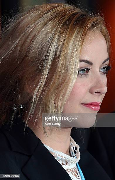 Charlotte Church poses for a photograph as she arrives at the Conservative party conference in the International Convention Centre on October 9 2012...