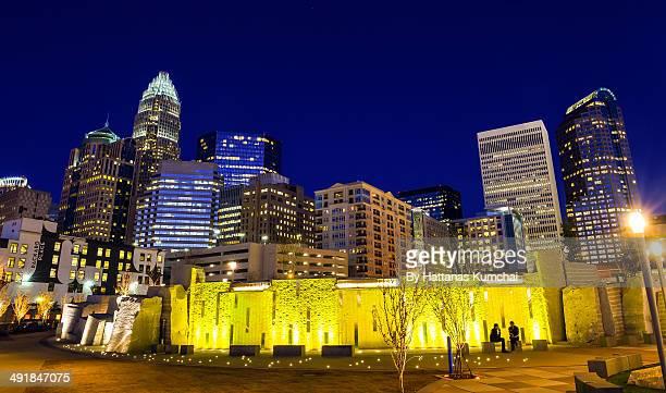 Charlotte City Skyline Lights