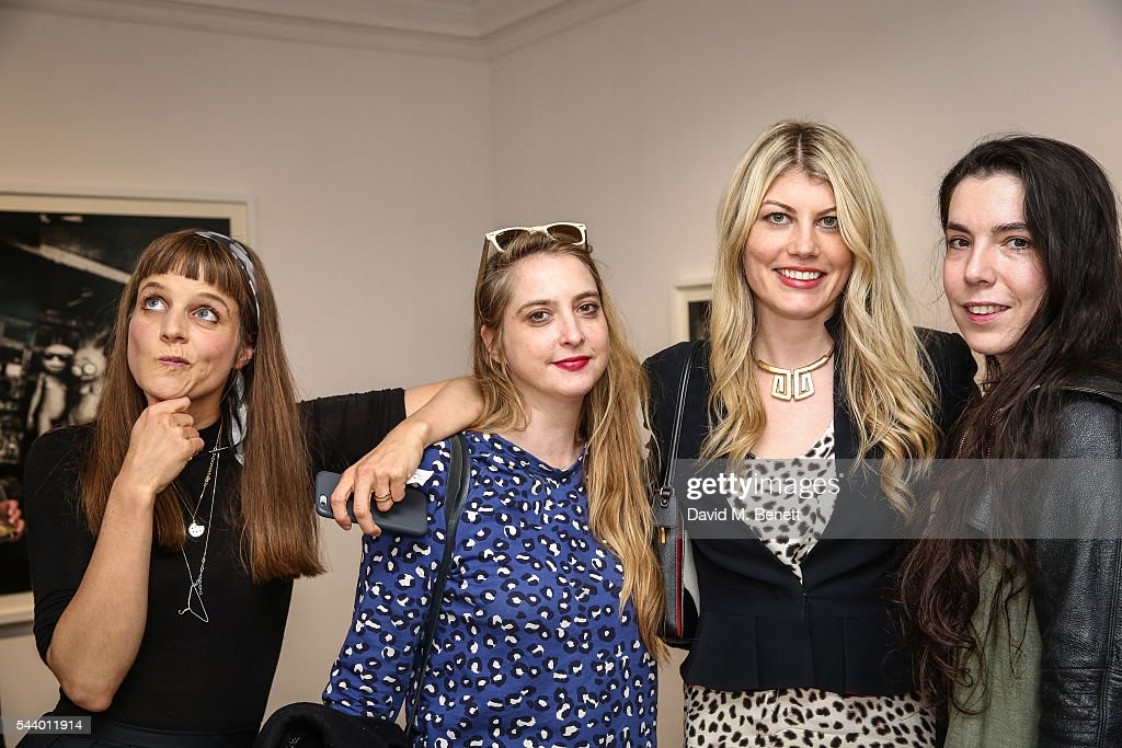 Charlotte Colbert, Daisy De Villeneuve, Meredith Ostrom and guest attend a private view of 'Ordinary Madness' by Charlotte Colbert at Gazelli Art House on June 30, 2016 in London, England.