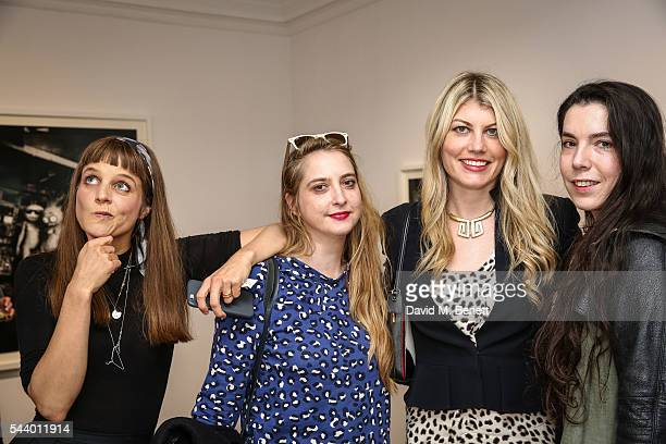 Charlotte Colbert Daisy De Villeneuve Meredith Ostrom and guest attend a private view of 'Ordinary Madness' by Charlotte Colbert at Gazelli Art House...
