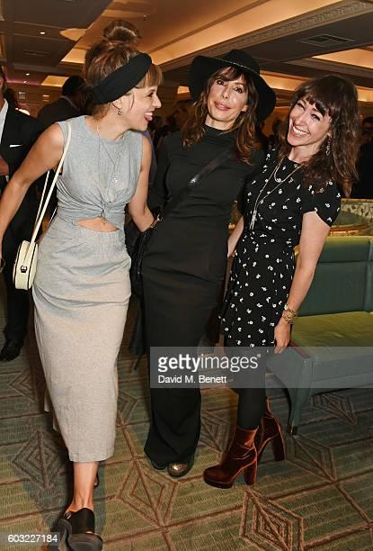 Charlotte Colbert Lauren Prakke and Annie Morris attend the launch of Fortnum's X Frank at Fortnum Mason on September 12 2016 in London United...