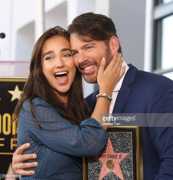 Charlotte Connick and Harry Connick Jr attend the ceremony honoring Harry Connick Jr with a Star on The Hollywood Walk of Fame held on October 24...
