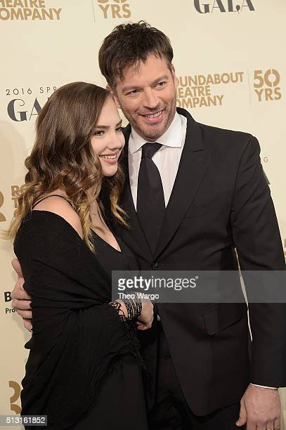 Charlotte Connick and Harry Connick Jr attend the Roundabout Theatre Company 2016 Spring Gala at The WaldorfAstoria on February 29 2016 in New York...