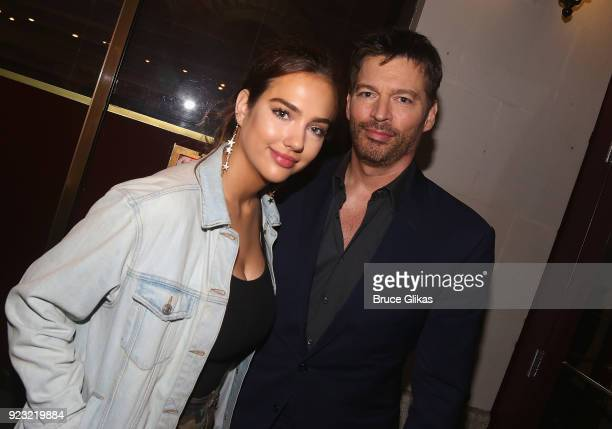 Charlotte Connick and Harry Connick Jr pose at Bernadette Peters Opening Night celebration for Hello Dolly on Broadway at Sardis on February 22 2018...