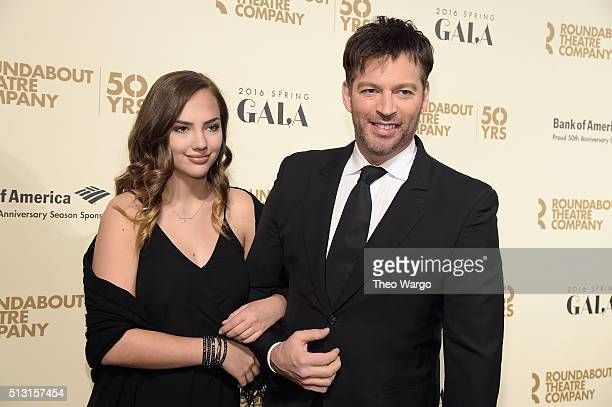 Charlotte Connick Harry Connick Jr and Todd Haimes attend the Roundabout Theatre Company 2016 Spring Gala at The WaldorfAstoria on February 29 2016...