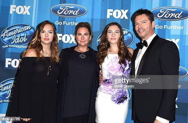 Charlotte Connick Jill Goodacre Kate Connick and recording artist Harry Connick Jr arrive at the FOX's American Idol Finale For The Farewell Season...