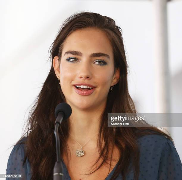 Charlotte Connick speaks onstage during the ceremony honoring Harry Connick Jr with a Star on The Hollywood Walk of Fame held on October 24 2019 in...
