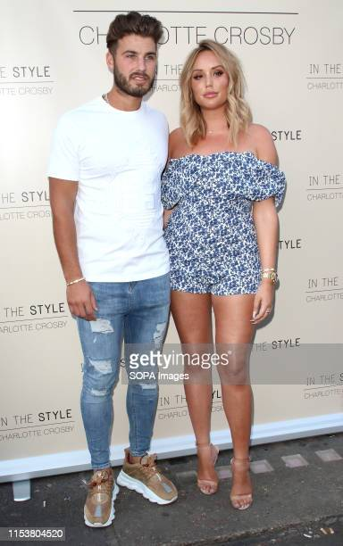 Charlotte Crosby and Joshua Ritchie at Charlotte Crosby's In The Style Launch Party at Nikkis Bar Hoxton Square