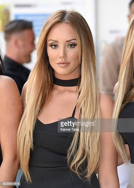 Charlotte Crosby arrives for the 5th birthday Celebrations of 'Geordie Shore' at MTV London on May 24 2016 in London England