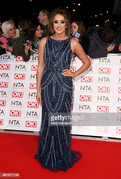 Charlotte Crosby attends the National Television Awards at 02 Arena on January 21 2015 in London England